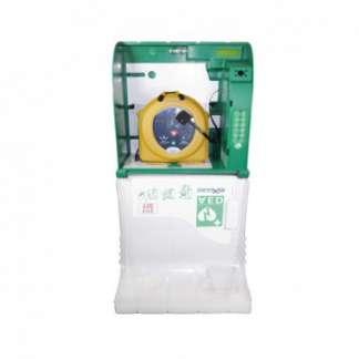 Wandkasten für Defibrillatoren mit Notrufanbindung für innen
