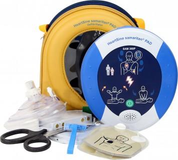Defibrillator HeartSine samaritan PAD 500 P-8 mit austauschbarer Kassette für Erwachsene oder Kinder
