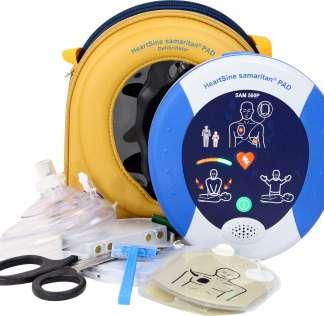 Defibrillator HeartSine samaritan PAD 500 P-8 mit Herzdruck-Massage Assistent (CPR Advisor)