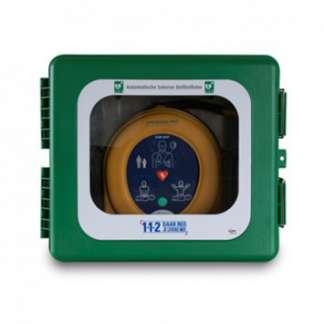 Wandkasten für Defibrillatoren mit Alarm für außen