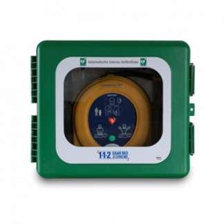 Wandkasten für Defibrillatoren mit Heizung und Alarm für außen