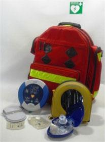 Profi-Rettungsrucksack mit Defibrillator und Notfallbeatmungsmaske