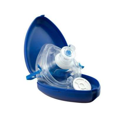 Notfallbeatmungsmaske inklusive Aufbewahrungsbox