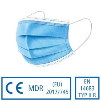 Medizinischer Mund- und Nasenschutz Typ II R - Bild der Atemmaske