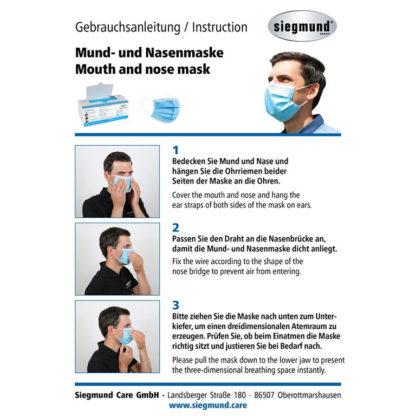Medizinischer Mund- und Nasenschutz Typ II R - Gebrauchsanweisung
