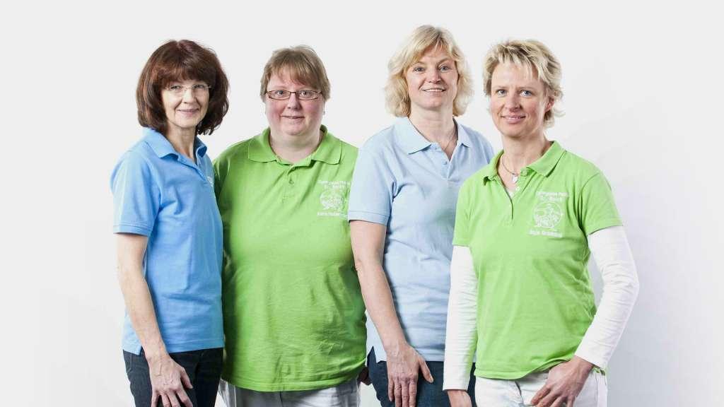 Vier unserer Mitarbeiterinnen des Wundzentrums in Ankum